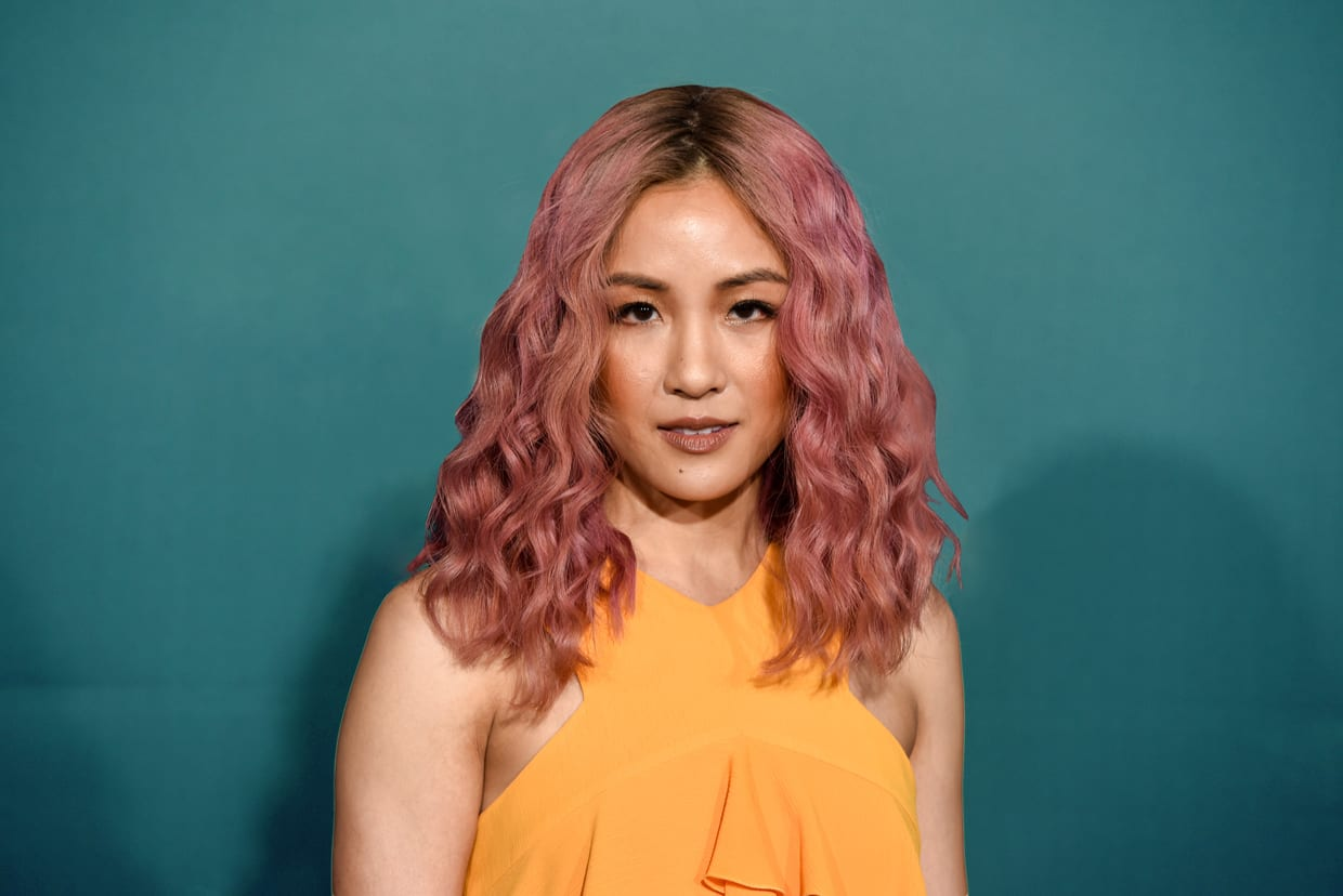 """Constance Wu attends Premiere Of Disney's """"A Wrinkle In Time"""" - Arrivals, Feb. 26, 2018, in Los Angeles."""